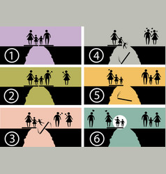 Family issues infographic symbol vector