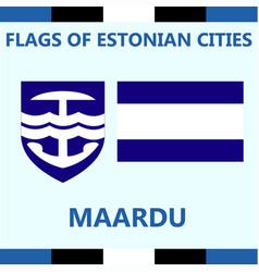 Flag of estonian city maardu vector