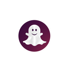 Ghost spook flat icon on isolated white vector