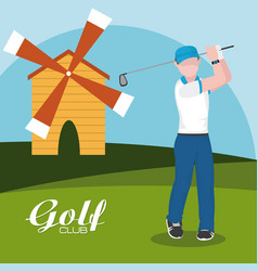 golf concept club vector image