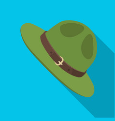 Green hat of a canadian ranger canada single icon vector