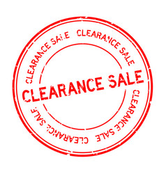 Grunge red clearance sale word round rubber seal vector