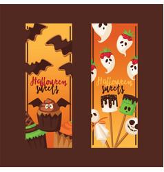 halloween collection fear creepy vector image