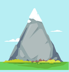 High mountain with sharp peak vector