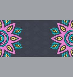 Horizontal mandalas banner decorative mandalas vector