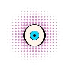 Human eye icon comics style vector image