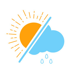 icon meteorological day vector image