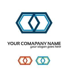 infinite logo vector image