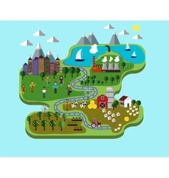 Infographic nature care vector