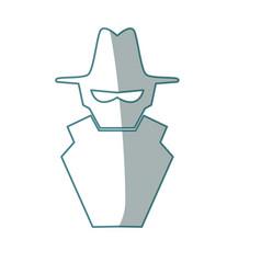 isolated spy hacker vector image