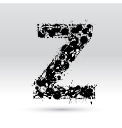 Letter Z formed by inkblots vector