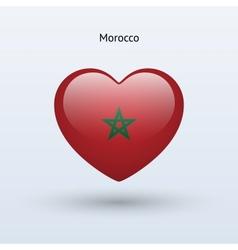 Love Morocco symbol Heart flag icon vector