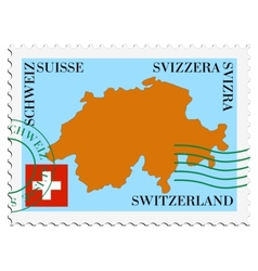 Mail to-from Switzerland vector