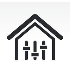 Mixer house icon vector
