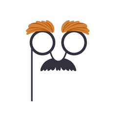 Mustache and glasses humor mask masquerade vector