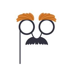 Mustache and glasses humor mask masquerade vector