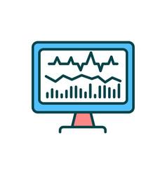 Neurofeedback rgb color icon vector