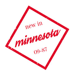 New in minnesota rubber stamp vector