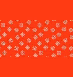new year red and white snowflakes seamless vector image