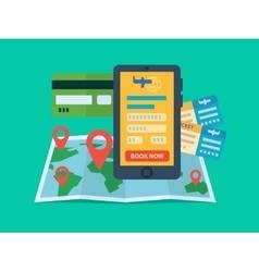Online ticket booking vector