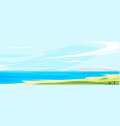 panorama seacoast vector image