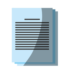paper documents icon image vector image