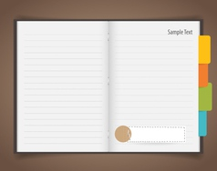 Paper sheet and Cute note papers Business working vector image