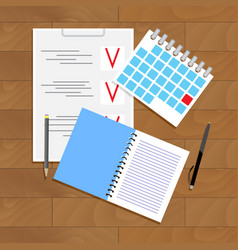 Planning and organization vector