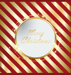 Red christmas background with golden stripes eps10 vector