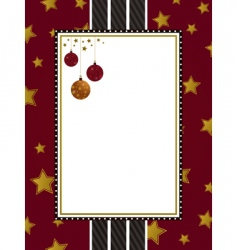 red gold and black frame vector image