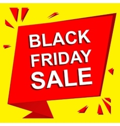 Sale poster with BLACK FRIDAY SALE text vector image
