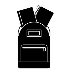 School bag book notebook pictogram vector