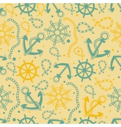 Seamless pattern with white anchors vector image