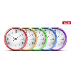 Set of office wall clock vector