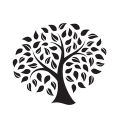 silhouette a tree vector image