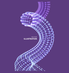 Spiral connection structure abstract grid design vector