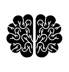 Storm brain isolated icon vector