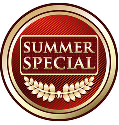 Summer special icon vector