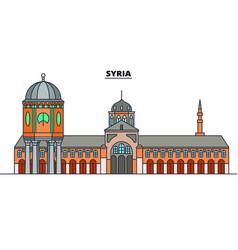 syria line skyline syria vector image