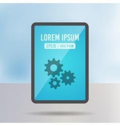 tablet screen vector image