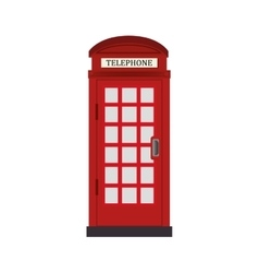 telephone cabin london icon graphic vector image
