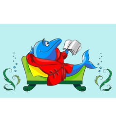 The dolphin has a rest vector