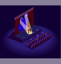 Theatre isometric icon vector