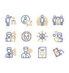 Third party algorithm and group icons set vector