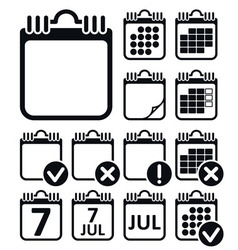 Wall Calendar Icons Set vector image