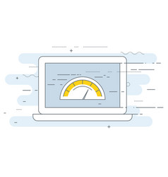 Web page loading speed test icon - site vector