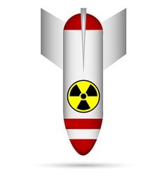 White atom bomb vector