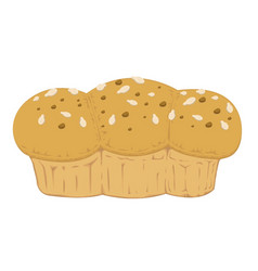 whole wheat bread and vector image