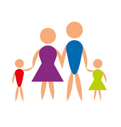 family pictogram father mother and son vector image