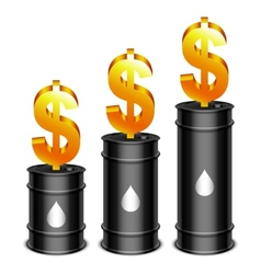 Oil Barrels and Dollar vector image vector image